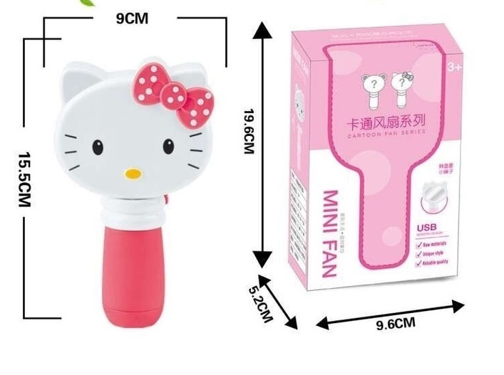 Quạt cầm tay mini hình hello kitty