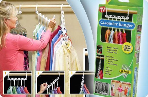 Bộ móc treo quần áo set 8 triples closet space