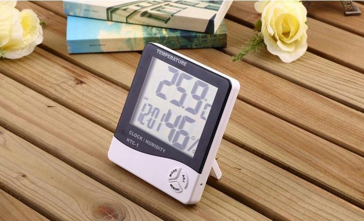 Đồng hồ kiêm đo nhiệt độ, độ ẩm trong phòng