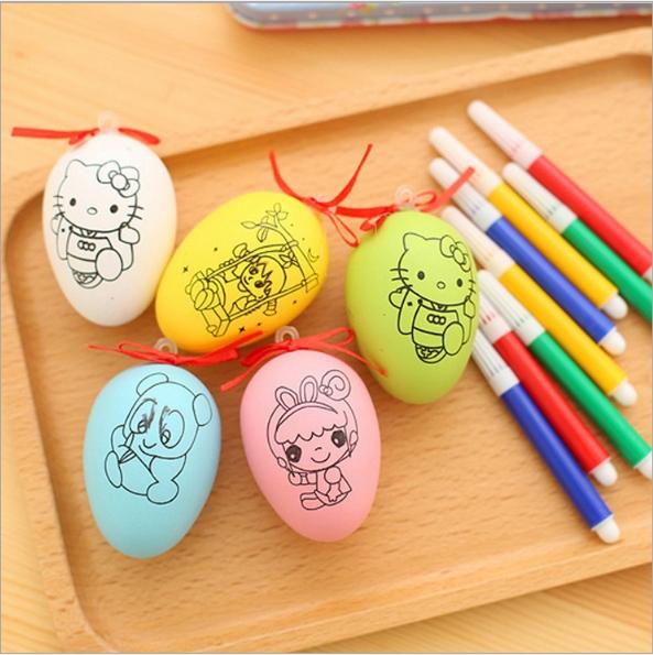 combo 2 Trứng tô màu cho bé kèm bút lông