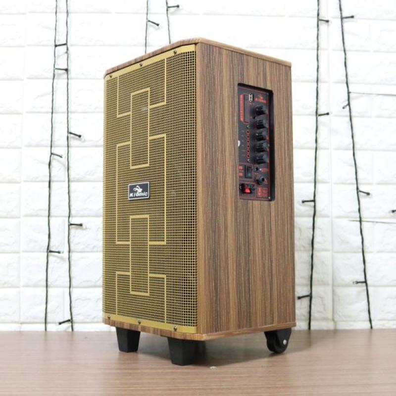 Loa karaoke Kiomic K89 2 mic không dây chính hãng