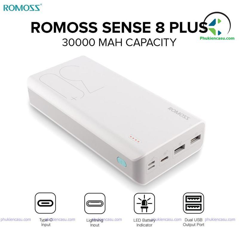 Pin sạc dự phòng Romoss 30000mAh sense 8P