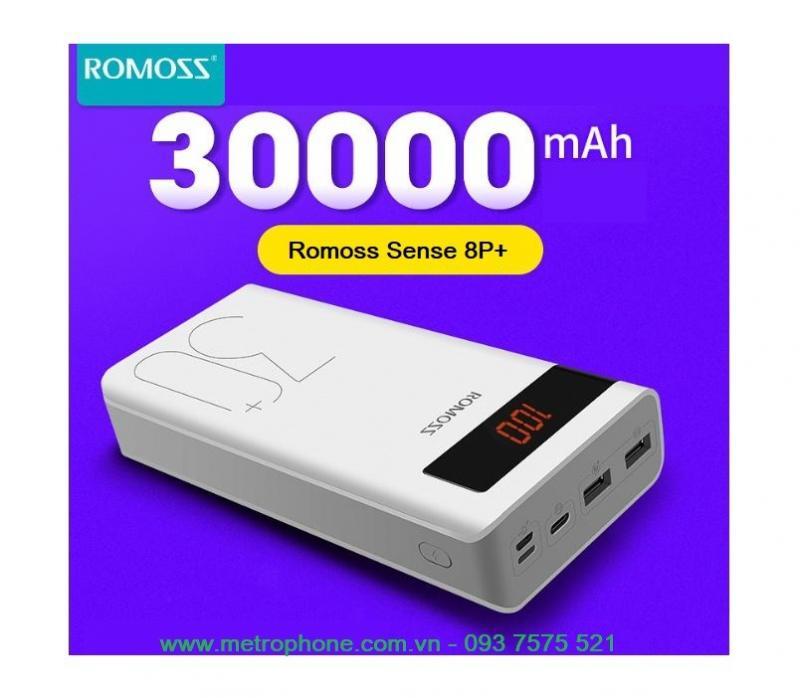 Pin sạc dự phòng Romoss Sense 8P+ 30.000mAh
