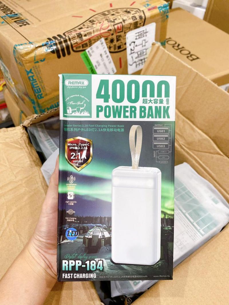Pin sạc dự phòng Remax RPP481 40.000mAh chính hãng