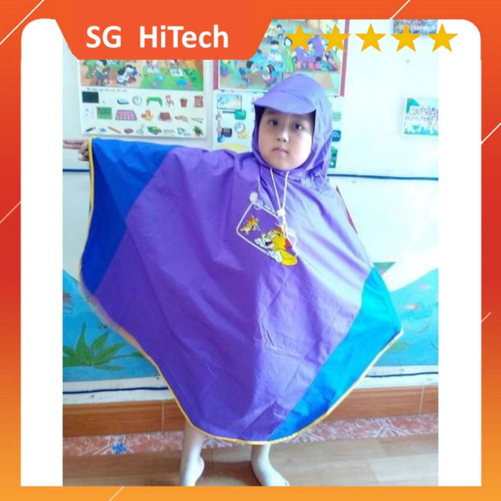 Áo mưa cánh dơi hình thú size 7, 8 (bé cao 80cm)
