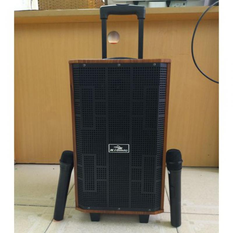 Loa karaoke Kiomic K8509 thùng gỗ kèm 2 micro không dây