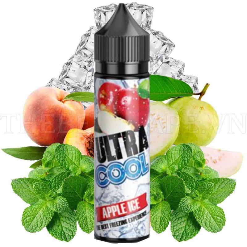 Tinh dầu vape Ultra Cool Malaysia 60ml hương vị táo